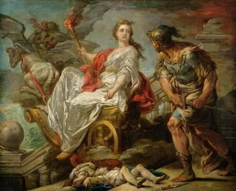 XIR182676 Jason and Medea, 1759 (oil on canvas); by Loo, Carle van (1705-65); 63x79 cm; Musee des Beaux-Arts, Pau, France; Giraudon; French, out of copyright